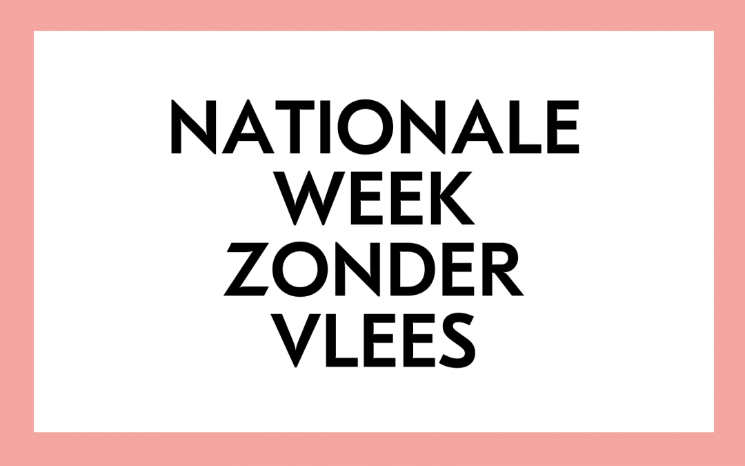 Alle 69 partners van de Nationale Week Zonder Vlees bekend